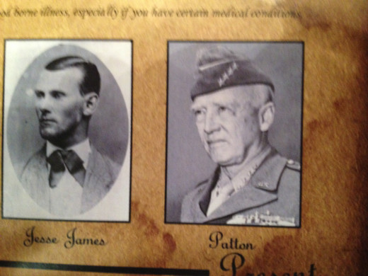 JESSE JAMES and GEORGE S. PATTON