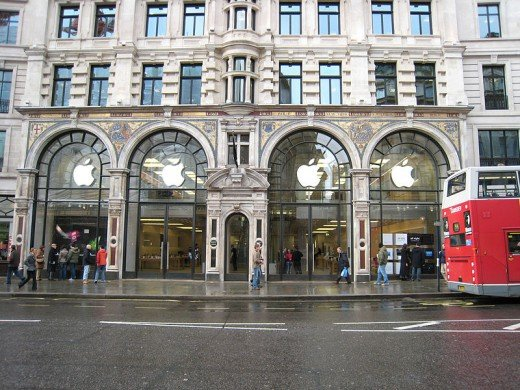 Genuine Apple storefront, Regent's Street, London