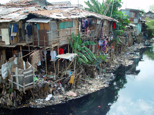 Shanty in Indonesia