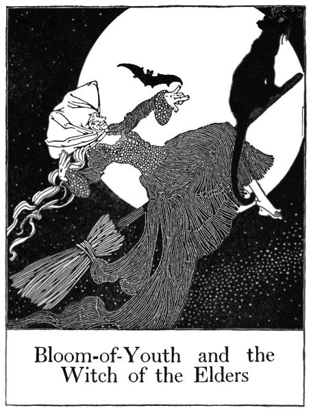 A flying witch...perhaps she had used a flying ointment?