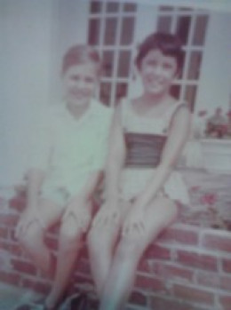 Summer, 1967.  Nancy (left) and this writer, Tina(right).When these two first meet in a resort in New Jersey.
