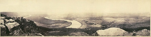 PANORAMA VIEW, OVERLOOKING CHATTANOOGA, FEBRUARY, 1864, BY GEORGE N. BERNARD