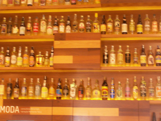 Common Brazilian Liquors from the state of Minas Gerais where the city of Belo Horizonte is located.  The portuguese word for beer is 'cervaja'  Its a popular and common drink in Brazil.