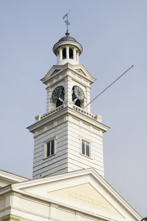 The Reformed Jozefkerk, Assen: view of tower with cupola.