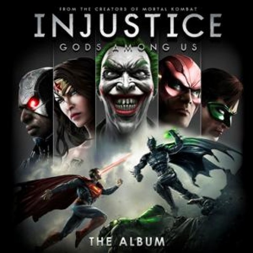 """""""Injustice: Gods Among Us - The Album"""" cover"""