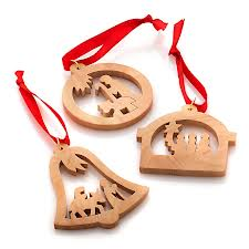 Special wooden ornaments, possibly homemade by the family, are another way to ensure children do not know which gifts are theirs.