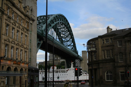 The Tyne Bridge in Newcastle upon Tyne, England, viewed from the Newcastle side