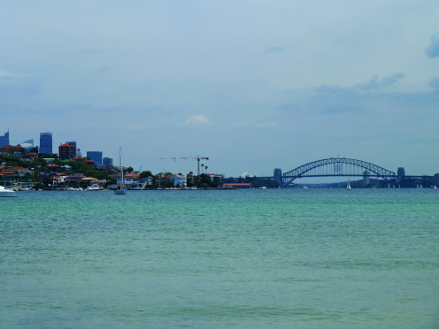 Sydney Harbour, from Dumaresq Road, Rose Bay, New South Wales, Australia.