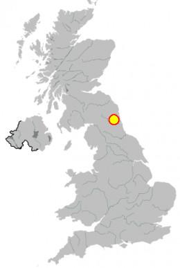 Map location of Newcastle-upon-Tyne, United Kingdom