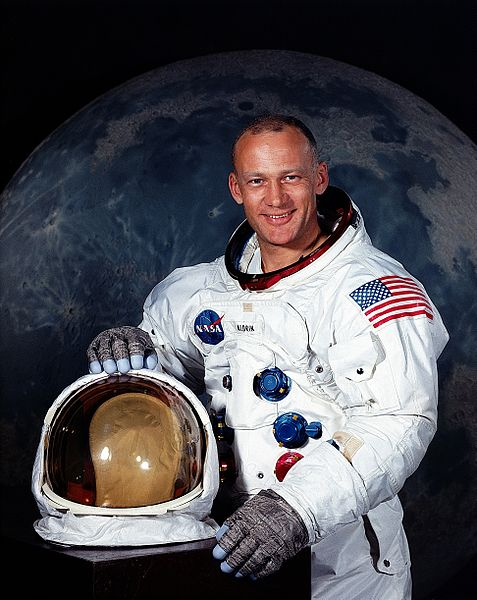 "Astronaut Edwin E. Aldrin, Jr., Lunar Module pilot of Apollo 11. His name is now legally ""Buzz"" Aldrin."