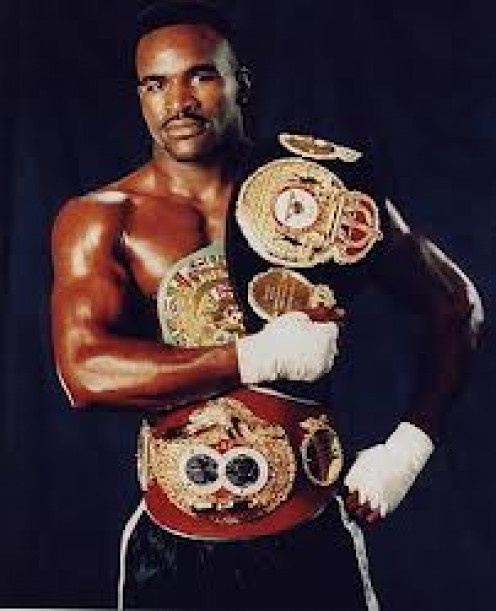 Evander Holyfield is known as the best Cruiserweight ever and one if the top few best heavyweights ever also. He unified the  Cruiserweight belts and the heavyweight titles.  Not to mention Holyfield has won the  heavyweight crown 4 times.