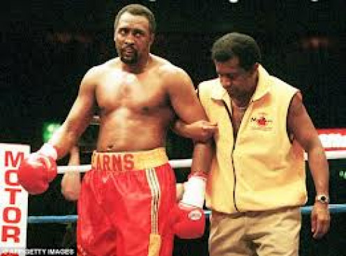 "Thomas""HITMAN""Hearns was trained by the late great Emanuel Steward. Hearns carried hispower from welterweight all the way to Cruiserweight."