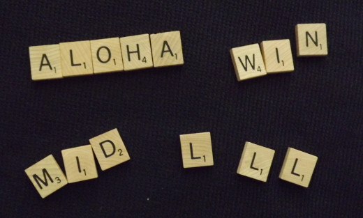 After spelling the word, ALOHA, I got stuck.