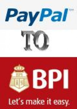 Pictures borrowed from the websites of both Paypal (Paypal.com) and BPI (BPIexpressonline.com)