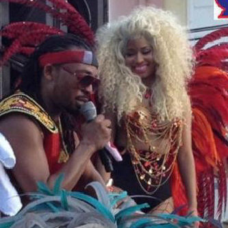 Nicki, with Trinidadian celebrity, Machel Montano.
