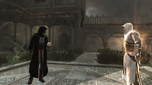 Altaïr confronting his master