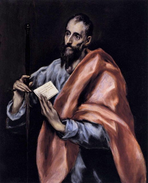 Painting of the Apostle Paul by El Greco