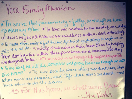 My family's mission statement.