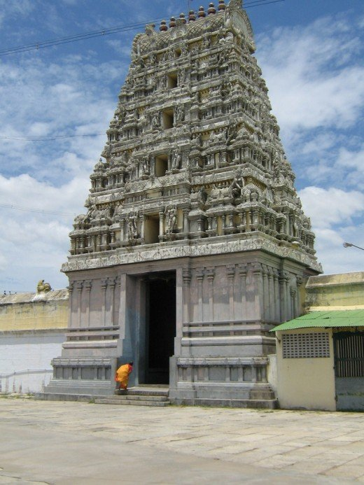 Gopuram of a Temple at Kancheepuram, Tamil Nadu, India.