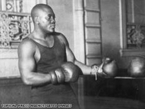 Jack Johnson was the first African American heavyweight champion and a great defensive boxer as well.