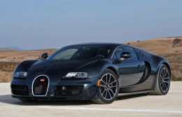 Black Bugatti Veyron super sport