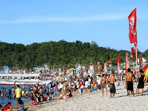 Puerto Galera on a busy day