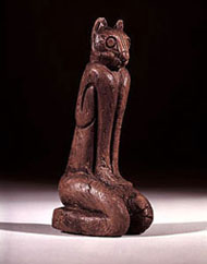 Key Marco Cat (artifact Catalogue No. A240915, Department of Anthropology, NMNH, Smithsonian Institution), sculpture excavated from the Key Marco archaeological site, Marco Island, Florida in 1896