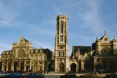 Huge ancient church in Paris, France