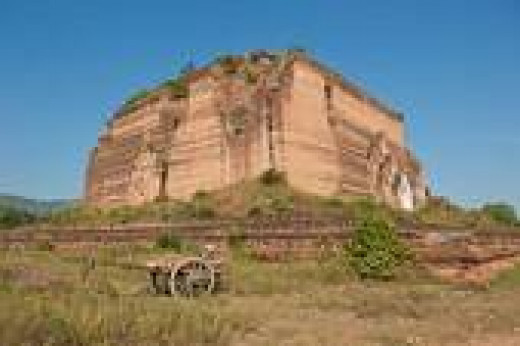 Ruins of Mingun temple in Myanmar