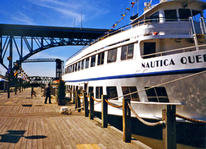 The Nautica Queen on the Cuyahoga River.