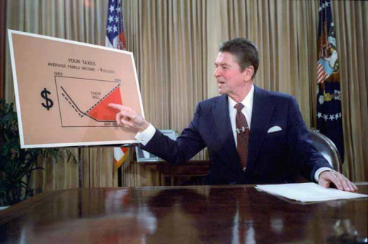 "Reagan explaining his ""Trickle Down"" theory."