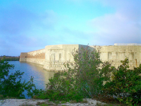 Fort Zachary Taylor and moat in its namesake state park.