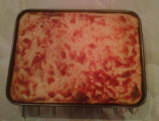 Cooked pastitsio!