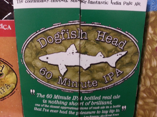 Dogfish Head 60 Min IPA, the right amount of bitterness for a newbie.