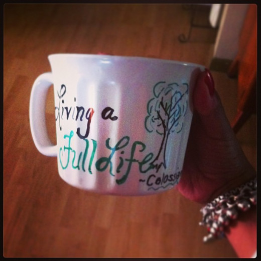 This was the mug from the woman who shared this great idea with us!