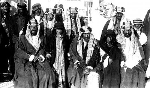 This photo from the early 20th century reportedly shows members of the Sauds of Arabia