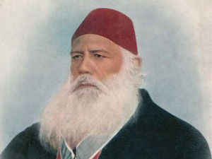 Prominent Indian-Muslim scholar and fellow knight Sir Syed Ahmad Khan answered Sir W W Hunter with his 'Review of the Indian Musalmaan'