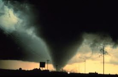 Tornadoes are gated on an F scale of 1-5 with five being the most dangerous. This photo shows an F5 Tornado.