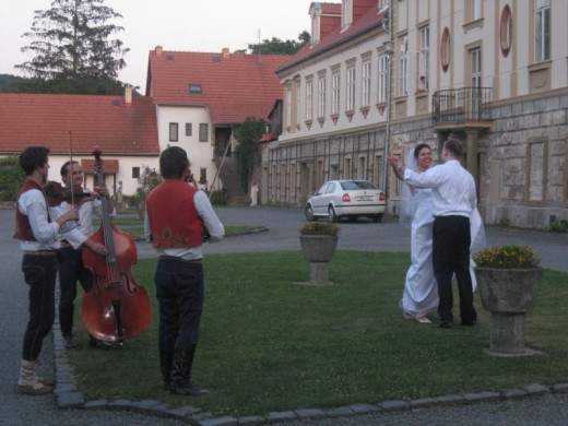 Couple Dancing To Traditional Czech Folk Music