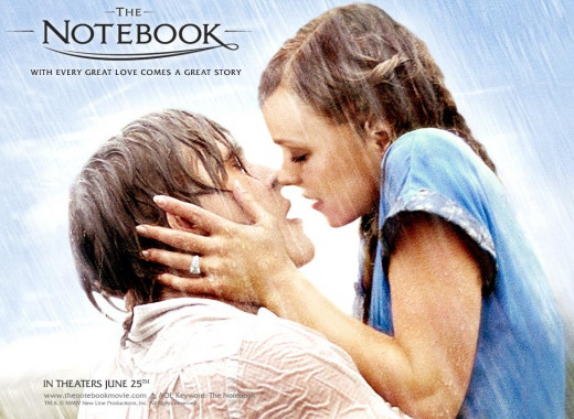 Kissing in the rain? Yeah... That happens in real life...
