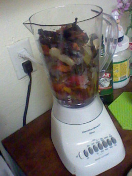 Put Salsa in Blender. Pulse until well incorporated.