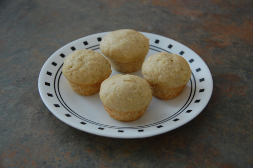 Delicious and easy, banana muffins made with applesauce