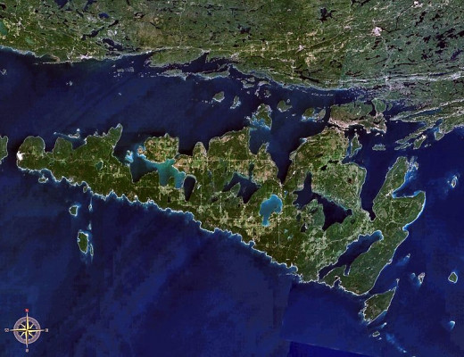 Manitoulin Island View From Space