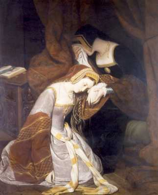 Anne Boleyn preparing for death at The Tower