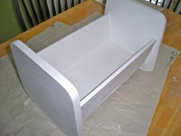 PrIme that baby doll cradle!