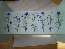 5. Begin filling in flower colors, planning carefully so that they look random but are laid out nicely.