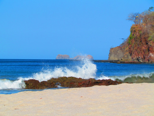 The north side of Playa Flamingo beach in Costa Rica.