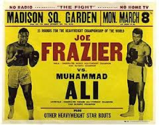 Muhammad Ali and Joe Frazier were both undefeated heavyweight champions when they met in 1971.