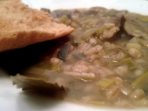 Mushroom and barley soup is a favorite of many.