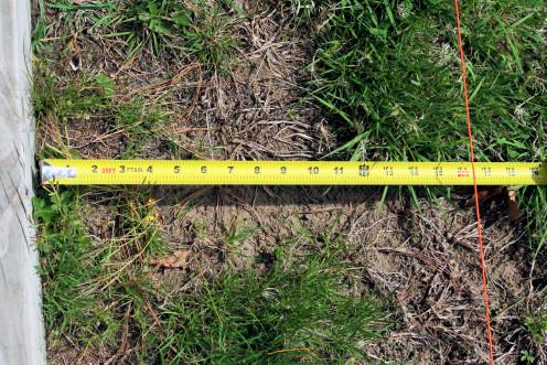 Measure Out Garden Width.